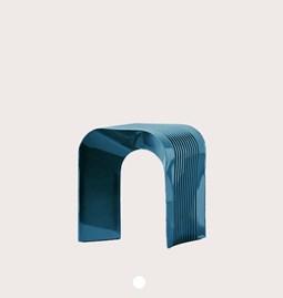 Tabouret Paperthin Original - bleu foncé