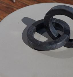 Kleoni Circles Decorative Object - marble
