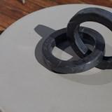 Objet décoratif cercles Kleoni - marbre 2