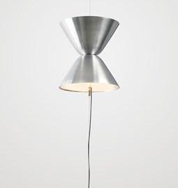 Suspension Auréole accroches sol et plafond - aluminium brossé