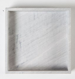 Agnes square tray - marble