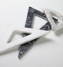 Thalis & Pythagoras desk accessories - marble
