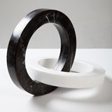 Objet décoratif cercles Kleoni - marbre 5
