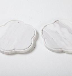 Zoe Coaster Set of 2 - marble