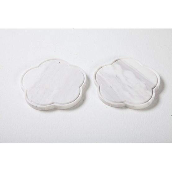 Set de 2 dessous de verres Zoe - marbre - Design : Faye Tsakalides