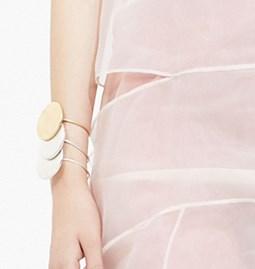 Bracelet rond solaire - argent