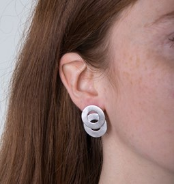 Earrings with interlaced circles - Silver