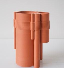 Vase TUBE no.2_1 - rouge