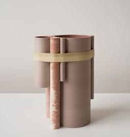 Vase TUBE no.2_3 - beige