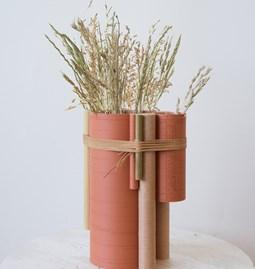 Vase TUBE no.2_6 - rouge