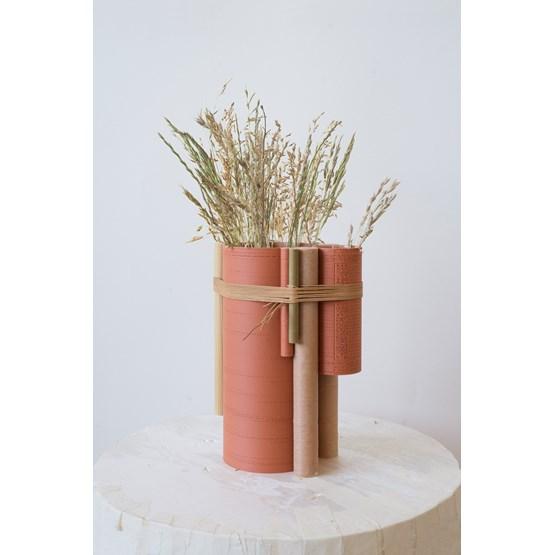 Vase TUBE no.2_6 - rouge - Design : La double clique