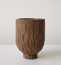 GOUGE pot - brown