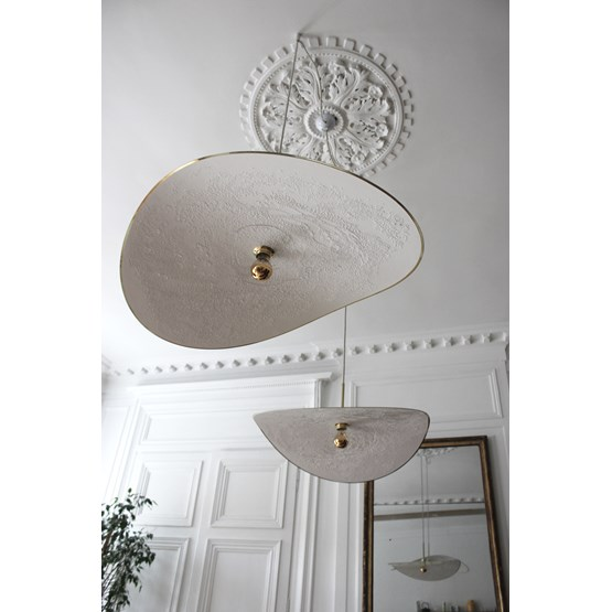 Suspension Ariane - blanche - Design : Anne-Charlotte Saliba