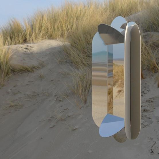 Dune wall mirror - beige - Design : bling Studio