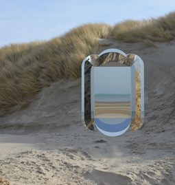 Dune wall mirror - yellow