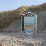 Dune wall mirror - beige 3