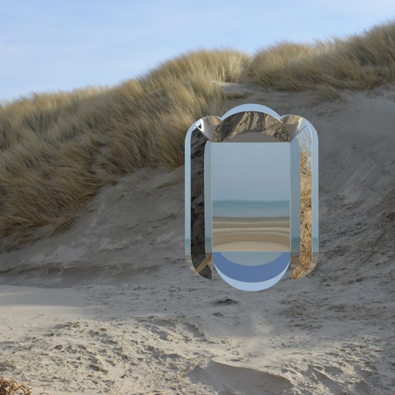 Dune wall mirror - yellow - Design : bling Studio