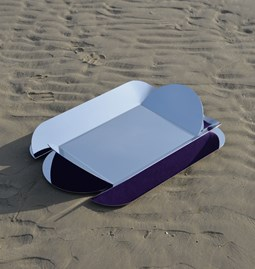 Dune wall mirror - purple