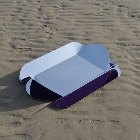 Dune wall mirror - purple - Design : bling Studio