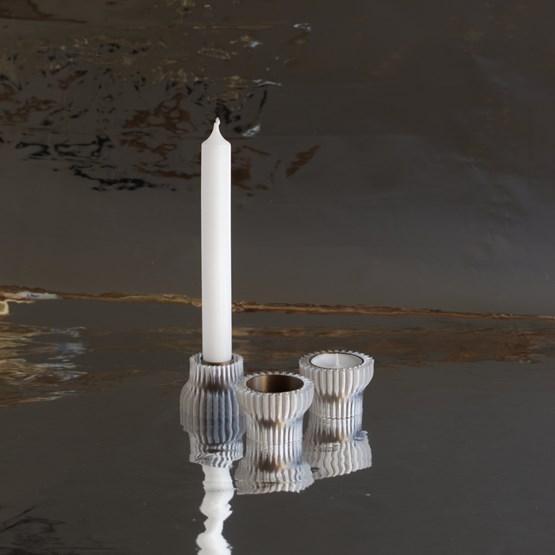 Double candle holders 2.20 - bronze - Design : Warren & Laetitia