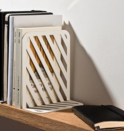 Grid 01 Bookend - white