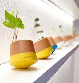 Voltasol flowerpot - yellow