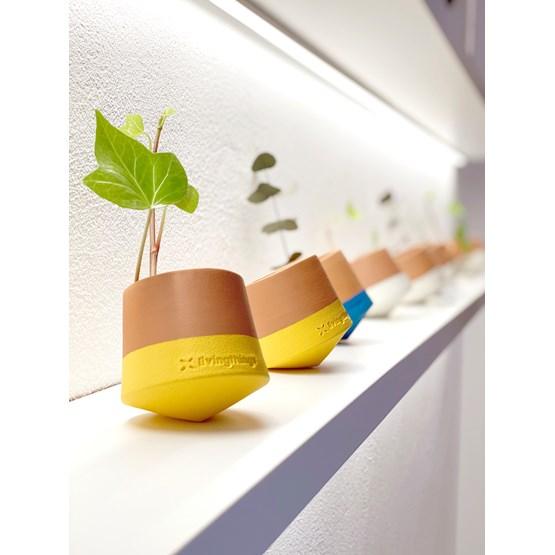 Voltasol flowerpot - yellow - Design : livingthings