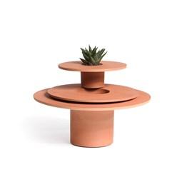 3 terracotta pots Tripot