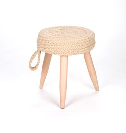 Muny handmade stool - braided