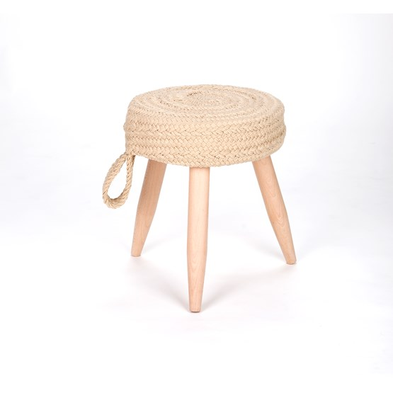 Muny handmade stool - braided - Design : livingthings
