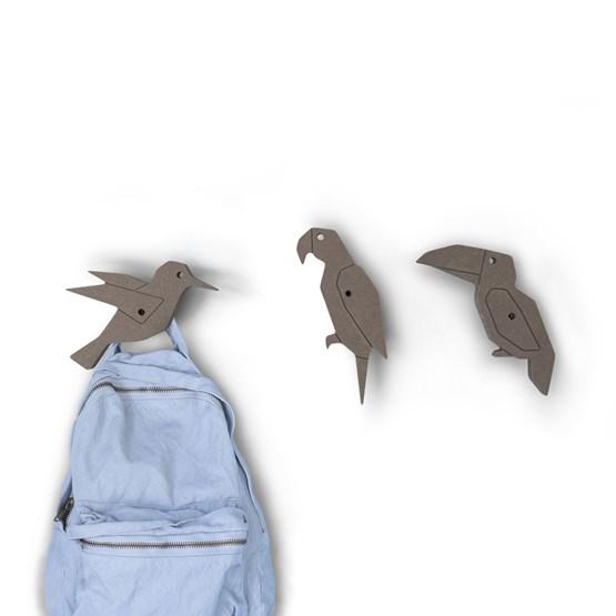 """Patères """"PIAF"""" (Gris) - 3 pièces  - Design : Studio Ruthy Design"""