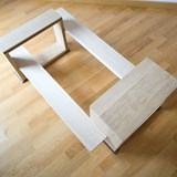 Disquadro coffee table - oak 4