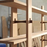 Wood locked Bookshelf Libreria Ad Incastri - oak 4