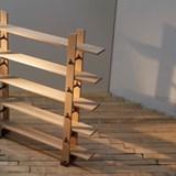 Wood locked Bookshelf Libreria Ad Incastri - oak 2