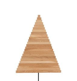 Christmas tree in wood Yelka - oak / black stand