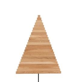 Sapin en bois Yelka - chêne / noir