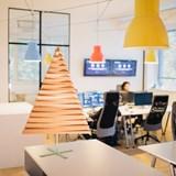 Christmas tree in wood Yelka - walnut / white Stand 3