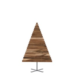 Christmas tree in wood Yelka - walnut / black Stand