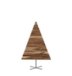 Sapin en bois Yelka - noyer / noir