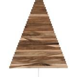 Christmas tree in wood Yelka - walnut / white Stand 8