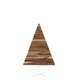 Christmas tree in wood Yelka - walnut / white Stand