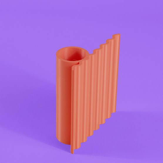 Zig pencil pot - corail - Design : Valentin Lebigot