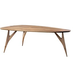 Table TED / medium - noyer blond