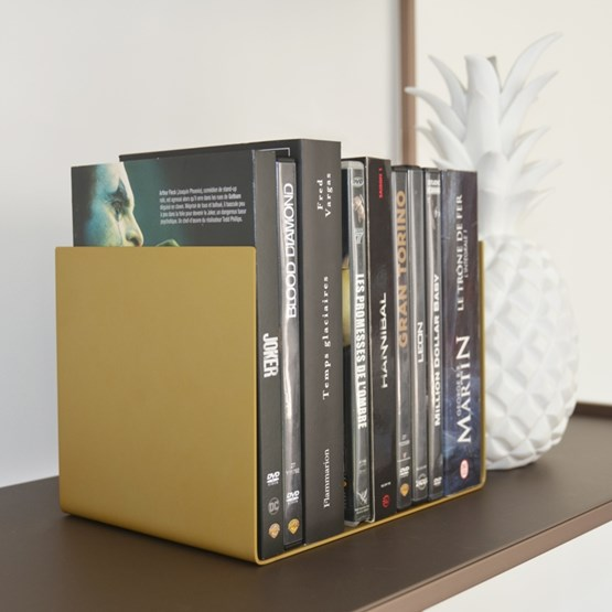 Regula bookend - or astral finish  - Design : L'Alufacture
