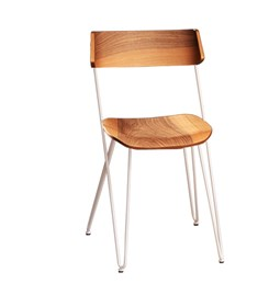 IBSEN MASTER Chair - steel white and walnut