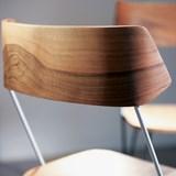 Chaise IBSEN MASTER Chair - acier blanc et noyer 8