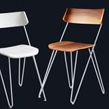 Chaise IBSEN MASTER Chair - acier blanc et noyer 7
