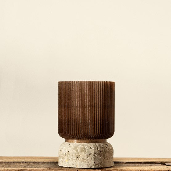 Plume 100 pot - coffee  - Design : Poule