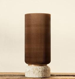 Plume 195 vase - coffee