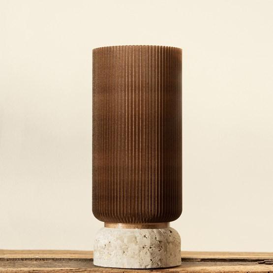 Vase Plume 195 - café - Design : Poule